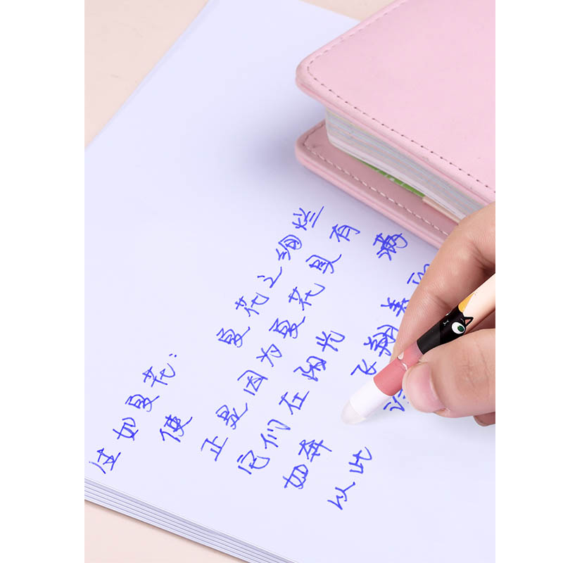 Ruixiang Frixion Gel Pen School Erasable Gel Ink Pen 0 5mm Crystal Blue Black Standard Writing
