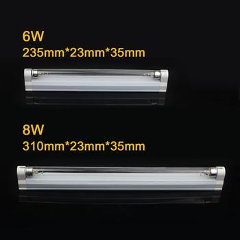 Ultraviolet germicidal light t5 tube with fixture uvc disinfection sterilizer kill dust mite uv quartz lamp for hospital bedroom