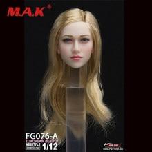 1/12 cachos anna cabeça fêmea esculpir brinquedos da menina do fogo fg076a/b/c cabem 6