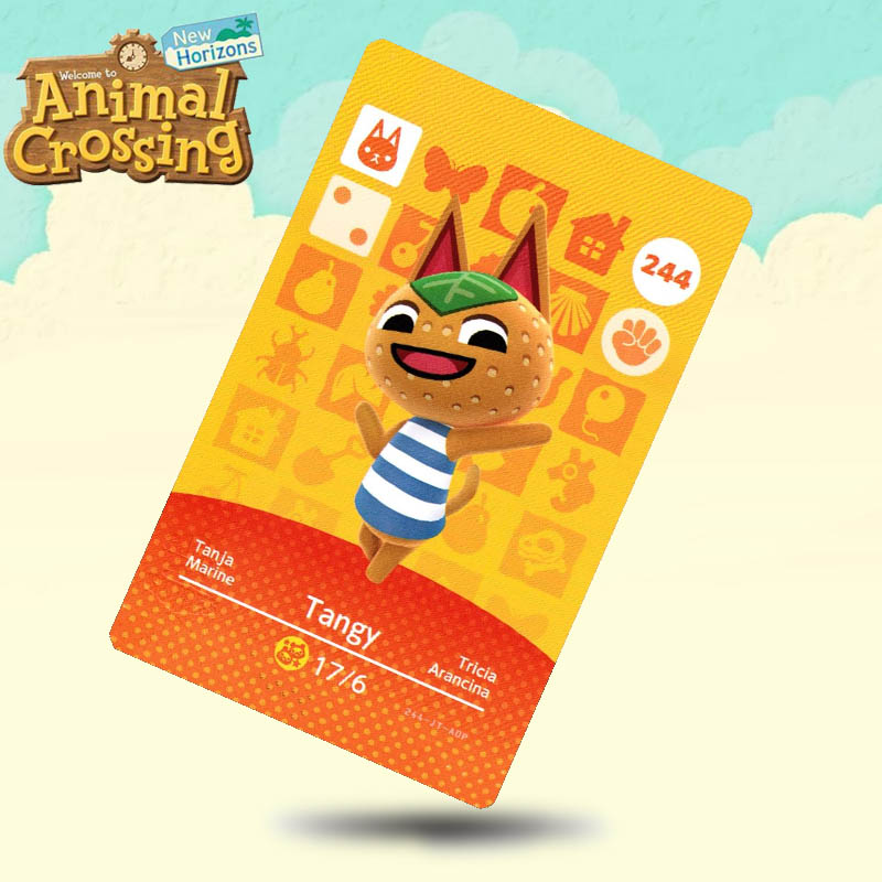 244 Tangy Animal Crossing Card Amiibo Cards Work For Switch NS 3DS Games