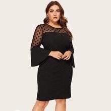 Женское платье ropa mujer vestidos de verano vestidos verano mujer robe femme Повседневное платье с длинными рукавами в стиле пэчворк 2XL-4XL Z4