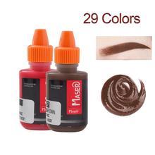 DHL dövme Pigment 29 adet bitki özü yoğunluklu organik toksik olmayan kaş dövme mikro Pigment kalıcı makyaj mürekkebi