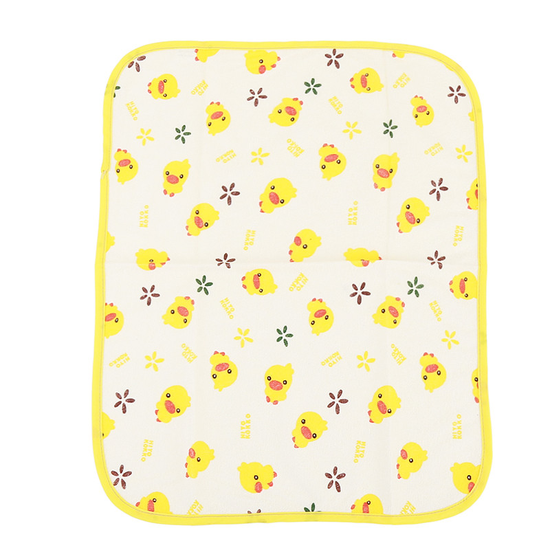 Yellow Duck Baby Changing Mat 3 Size Waterproof Urine Pad Mat Cotton Washable Waterproof Bed Sheet Baby Mattress Changing Pad