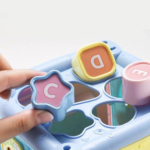 bebe crianca multifuncional hexaedro brinquedos mao