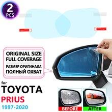 Полное покрытие противотуманной пленки зеркало заднего вида для Toyota Prius 10 20 30 50 C V Aqua 1997~ противотуманные пленки непромокаемые аксессуары