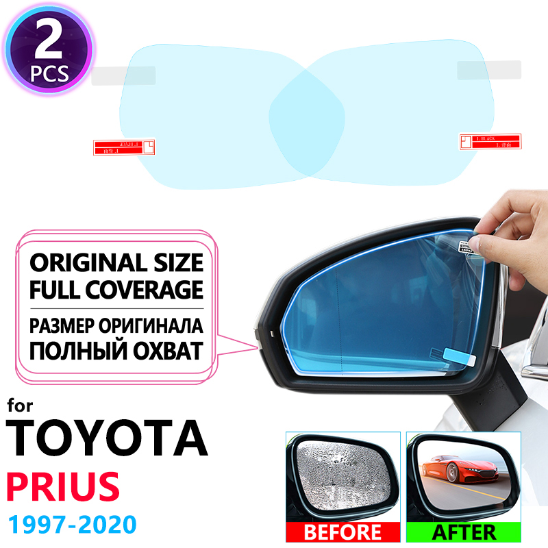 Full Cover Anti Fog Film Rearview Mirror For Toyota Prius 10 20 30 50 C V Aqua 1997~2020 Anti-Fog Films Rainproof Accessories