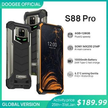 Перейти на Алиэкспресс и купить Смартфон DOOGEE S88 Pro защищенный, IP68/IP69K, 10000 мАч, Helio P70 восемь ядер, 6 ГБ ОЗУ, 128 Гб ПЗУ, Android 10 OS