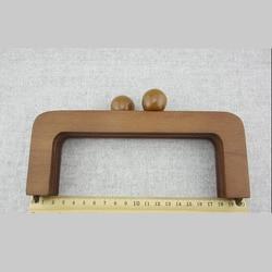 Bolso de madera con marco de madera y Asa de bolso de mano de Color marrón China accesorios de bolso de mano de madera