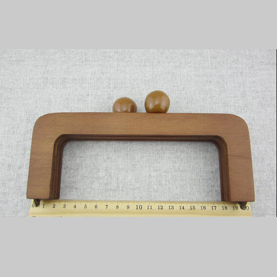 Wooden Purse Frame Wood Bag Handle - Brown Color China  Bag Accessories Wood Purse Handle