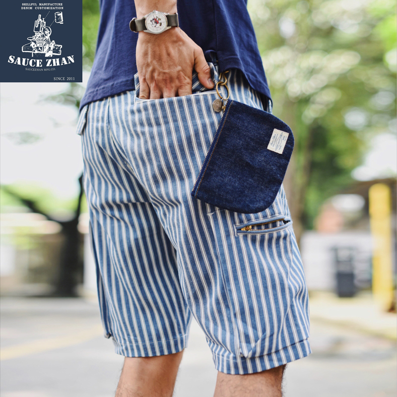 SauceZhan Spring Summer Vintage Mens Pants Runners Striped Shorts Cargo Pants Casual Striped Pants Mens Striped Shorts