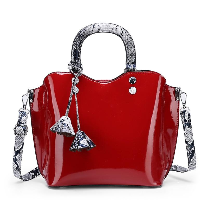 JUILE High Quality patent leather Women handbag shoulder bag luxury handbags designer womens clothing brand lady Messenger