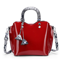 JUILE High Quality patent leather Women handbag shoulder bag luxury handbags designer womens clothing brand lady Messenger