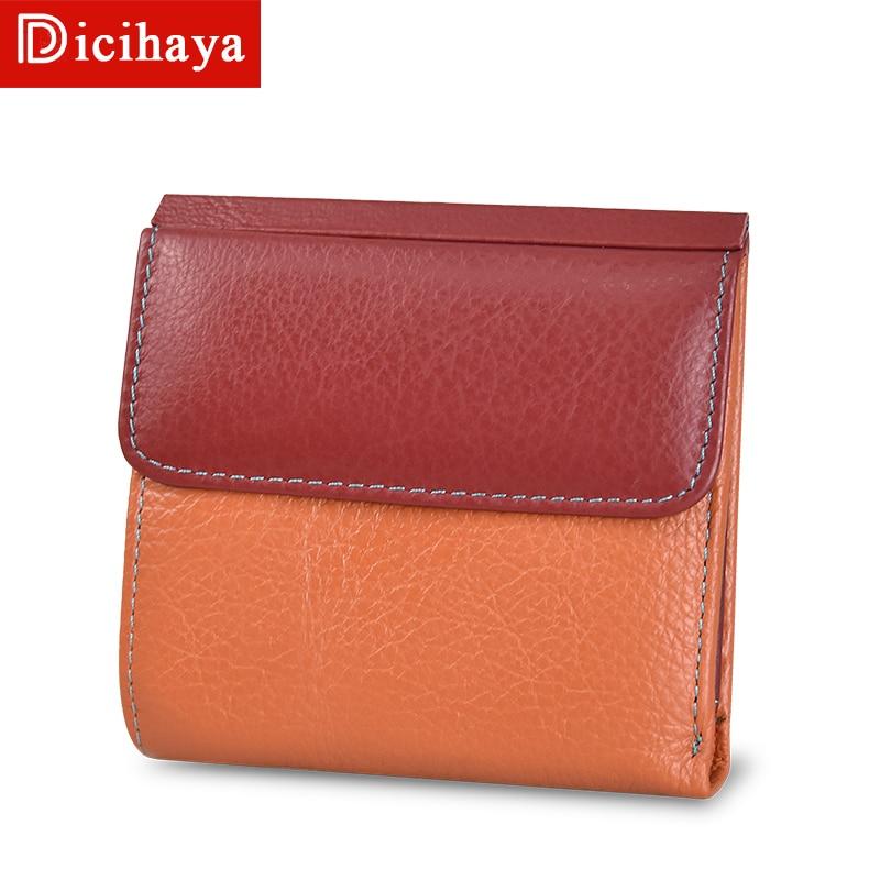 DICIHAYA Women Wallets Small Leather Purse Contrast Color Ladies Card Bag For Women Clutch Women Female Purse Money Clip Wallet