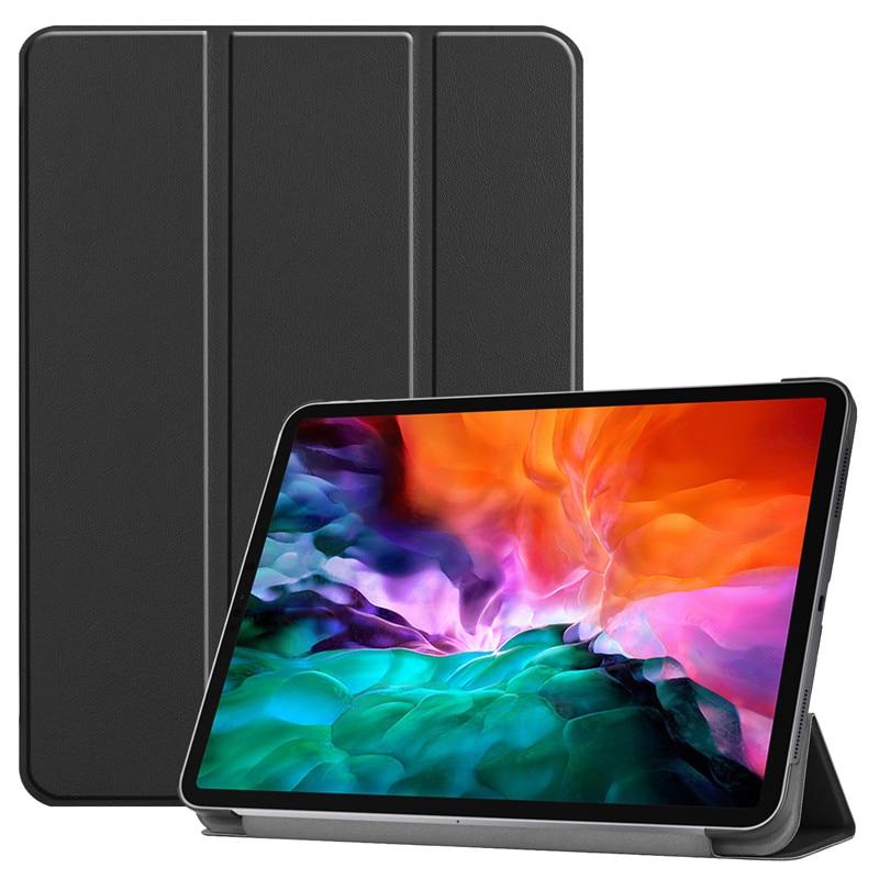 2021 iPad 12 12.9 Pro 2021 Funda 2018 Hard 9 Leather For PU Folding for A2461 PC Pro iPad Cover Back Smart Case Case 2020 Stand