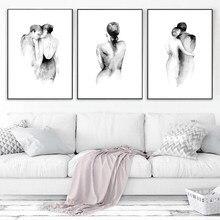 Cartazes e impressões da sala de estar quarto fotos para a parede para casa design cartaz da arte lona pintura escandinava decoração