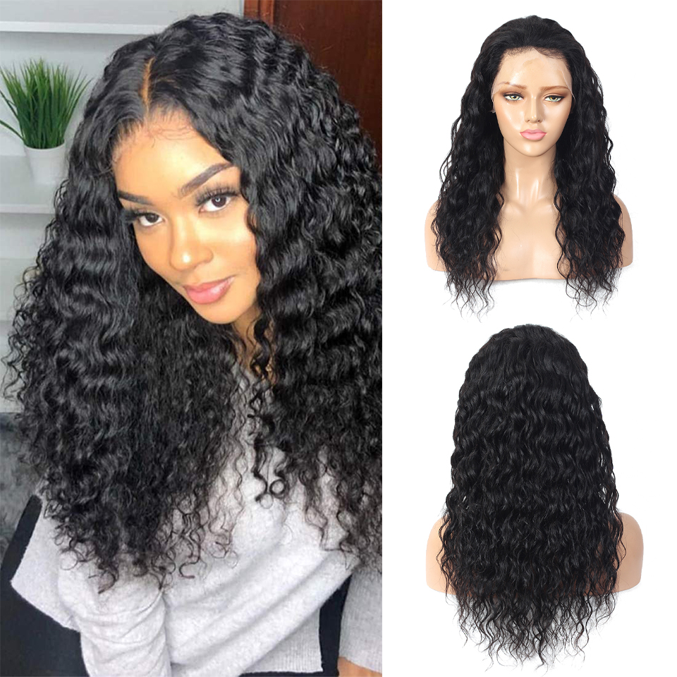 CHEAP Water Wave Wig Hd Transparent Lace Frontal Wig Curly Lace Front  Wigs 13*4  Deep Curly Lace Front Wig 2