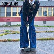 Pantalon Baggy de Style patineur ombré, Streetwear Y2k pour adolescent des années 90, poches, jambes larges, taille haute