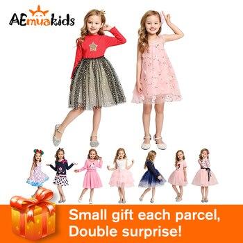 цена на Toddler Kids Children Dress Baby  Girl Clothes Spring Summer Autumn Pink Party Wedding Princess Dresses for Girls 2-8 Years