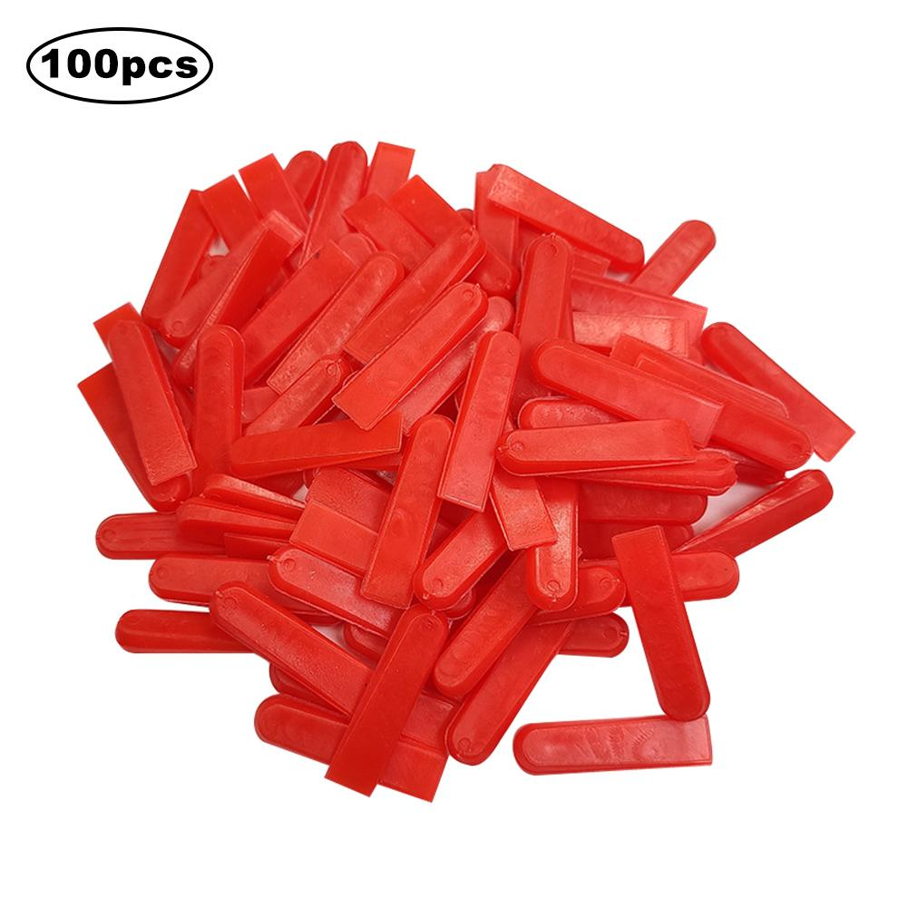 100PCS/Set Tile Leveling System Tile Positioning Leveler Equalizer Pad Tiling Aids Plastic Wedges
