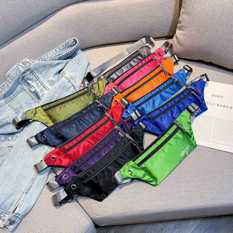 Waist Bag 2019 Women Super Quality Casual Sport Purse Nylon Female Breast Package Messenger Belt Bag Chest Fanny Pack Women Hip in Waist Packs from Luggage Bags