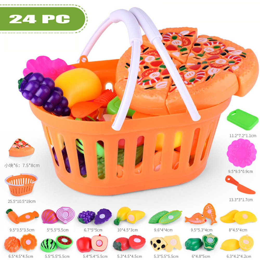 Baby Toys Kids Pretend Role Play Kitchen Fruit Vegetable Food Toy Cutting Set Gift Toy Baby Kids Kitchen Toys Jouet Pour Enfants