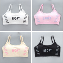 Underwear Bra Topic Sport Cute Letter Natural-Sling Training Teenage Young-Girls Cotton