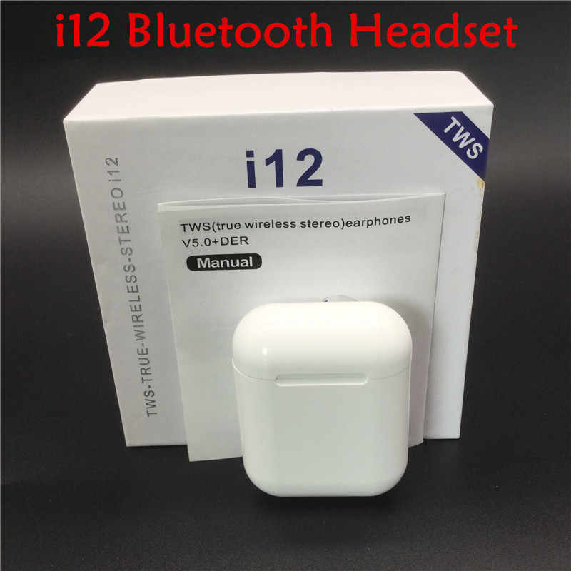 Asli I12 Tws Air Bluetooth 5.0 Earphone Earbud Sport Wireless Headphone untuk Iphone Samsung Xiaomi I12tws Headset Aku 12 Tws