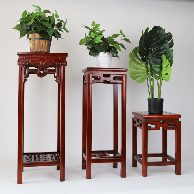Chinese Style To Fake Something Antique A Living Room Green Luo Bonsai Frame Woodiness Balcony Indoor To Ground Redwood Shelf
