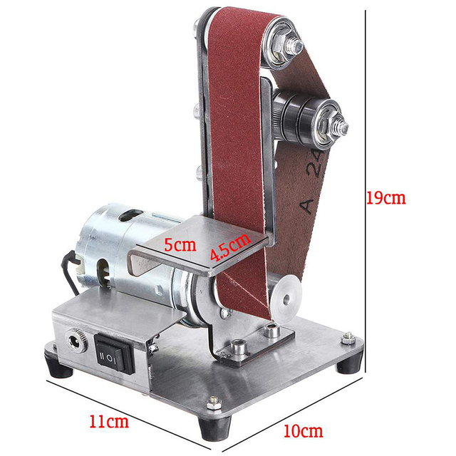 350 w 미니 전기 벨트 기계 샌더 샌딩 연마 기계 연마 벨트 그라인더 diy 연마 커터 가장자리