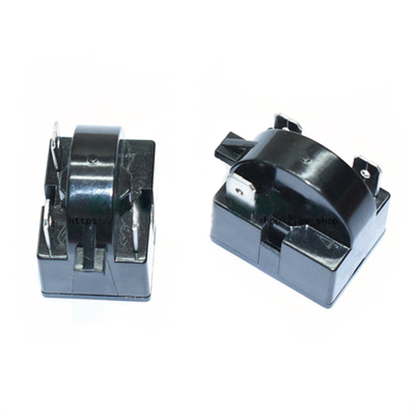 1PC Refrigerator Compressor Relay Starter For QP2-15C Universal Type Three Inserts 15 Ohm Black