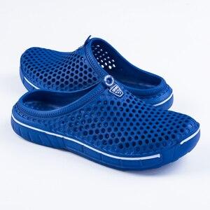Image 5 - PUPUDA mokasen erkekler yaz plaj ayakkabısı açık rahat terlik erkekler ev hafif ev terliği erkekler ev terlikleri kadınlar