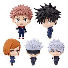 5Pcs Anime Jujutsu Kaisen Gojo Satoru Kugisaki Action Figure Model Toys For Children Birthday Gift Movie Fans Collection