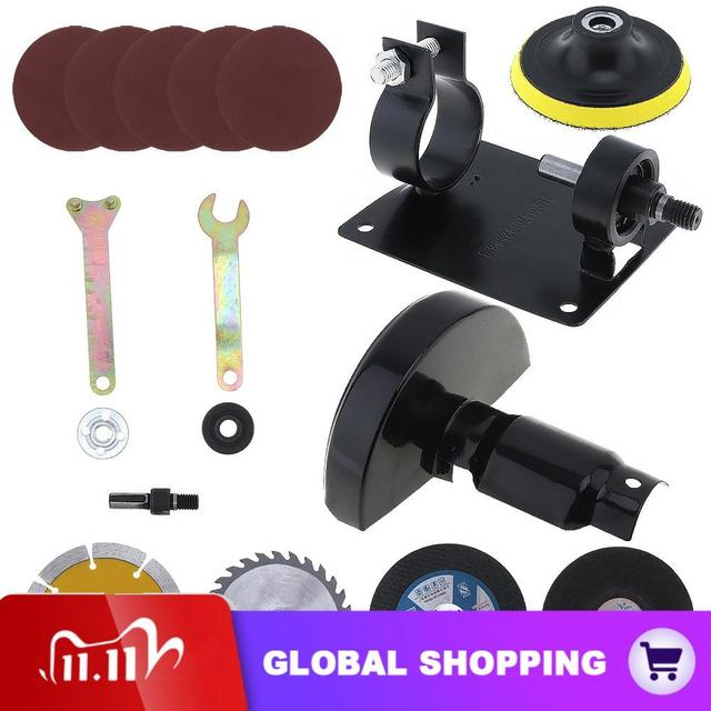 17pcs/set 13mm Electric Drill Cutting Seat Conversion Tool Accessories Set for Grinding Cutting Tile Wood Metal Polishing