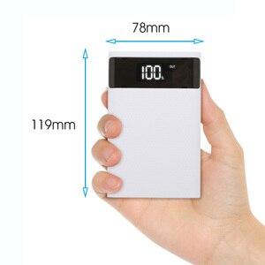 Image 2 - Dual USB Typ C Power Bank Fall DIY 4x18650 Handy 15000mAh Batterie Lagerung Box Ohne Batterie mit Smart Led anzeige