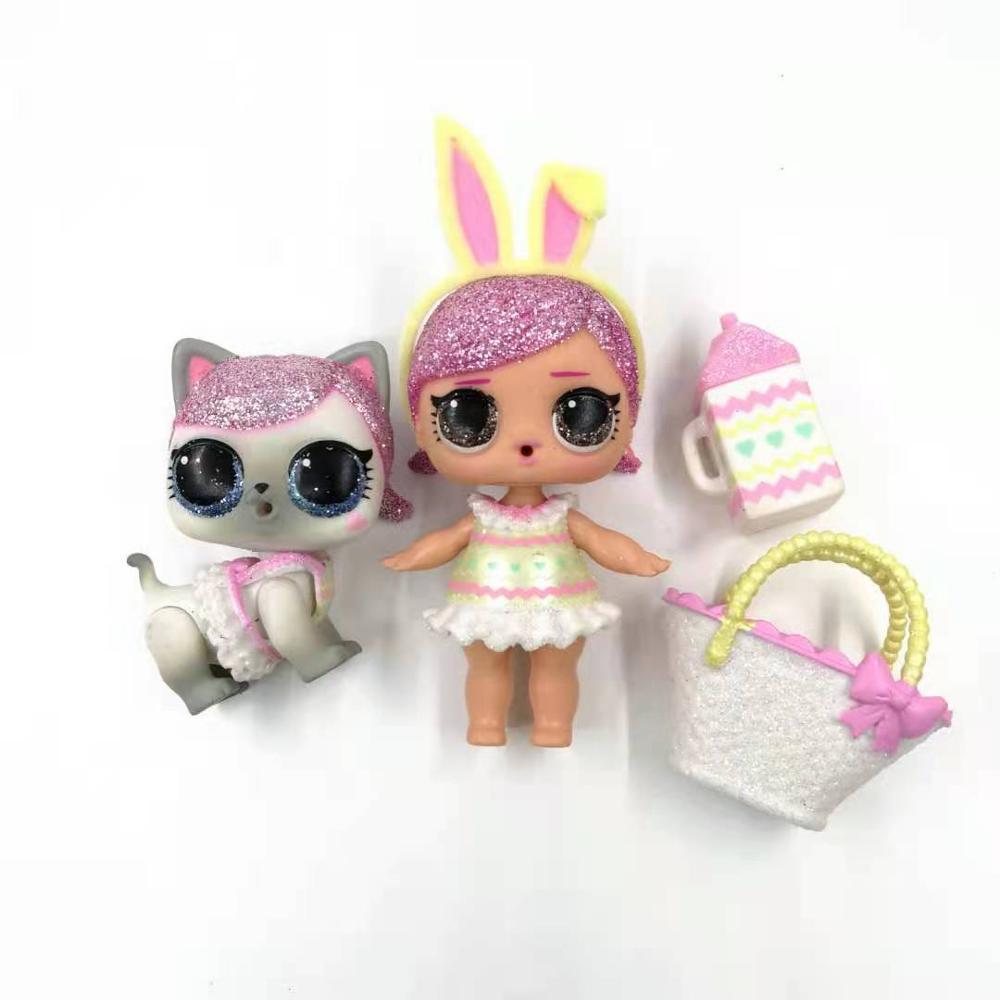 1 pçs original lols surpresa bonecas estilo raro bebê irmã glitter bonecas com roupas coleção limitada crianças meninas presente de aniversário
