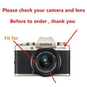 Image 2 - 52mm Ventilé En Métal Pare soleil pour Fujifilm X T100 X T30 X A20 X A7 X A5 XA20 XA7 XA5 XT30 XT100 Caméra avec 15 45mm