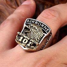 Новинка; В стиле ретро; ВВС Орел знак кольцо Для мужчин из нержавеющей