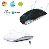 Estilo Apple Magic Touch Bluetooth 3,0 inalámbrico ratón ergonómico Delgado arco ratones USB 2,4G inalámbrico ratón de juegos para ordenador portátil mac PC