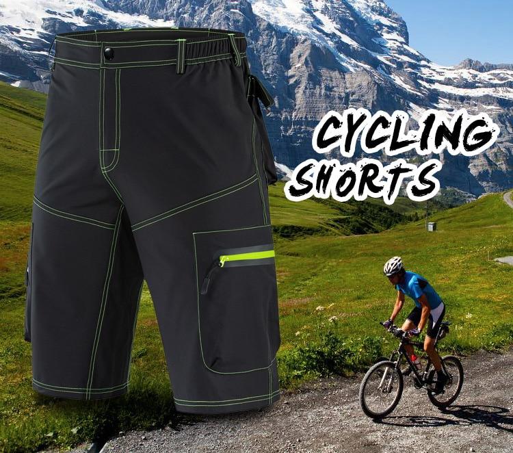 WOLFBIKE Reflective Men's MTB Bike Cycling Shorts Sports DIY Gel Pad Bicycle Downhill Riding Racing Rain Resistance Cycle Short