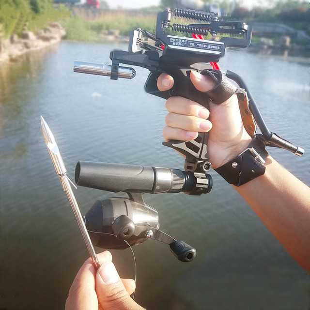 Hot Sale High Quality Laser Black Red Hunting Slingshot Fishing Slingshot Fishing Bow Outdoor Powerful Slingshot 2020New 4