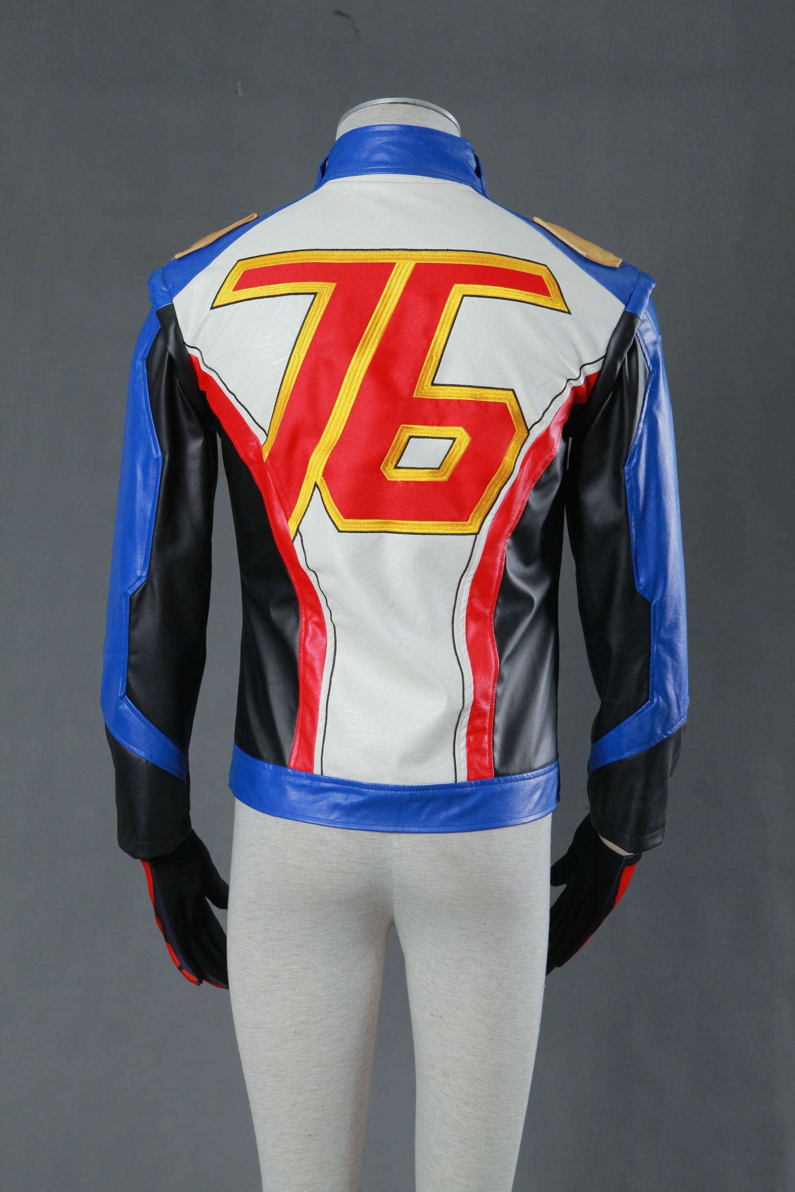 Overwatch OW Soldier 76 Halloween Cosplay Costume Soldier 76 Cosplay Uniform Jacket Halloween 3