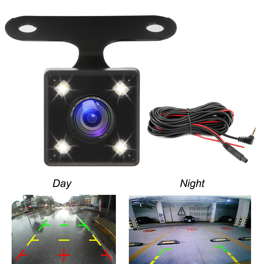 Car Rear View Camera Auto DVR Camcorder 2.5mm 4Pin Jack Video Port With LED Night Vision For GS63H M06 dash cam Waterproof