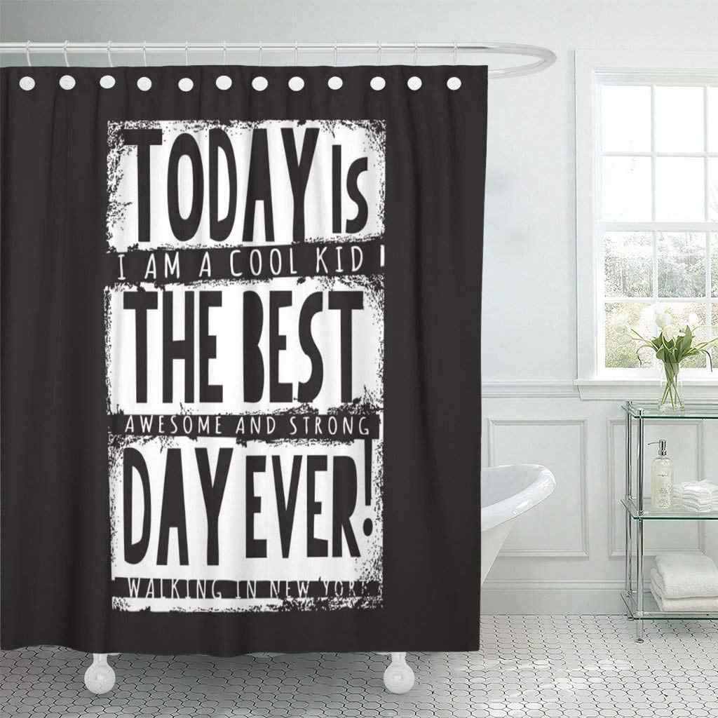 Stay Cool Awesome Slogan Graphics Street Tee Always Best Shower Curtain Waterproof Polyester Fabric 72 X 72 Inches Set With Hook Shower Curtains Aliexpress