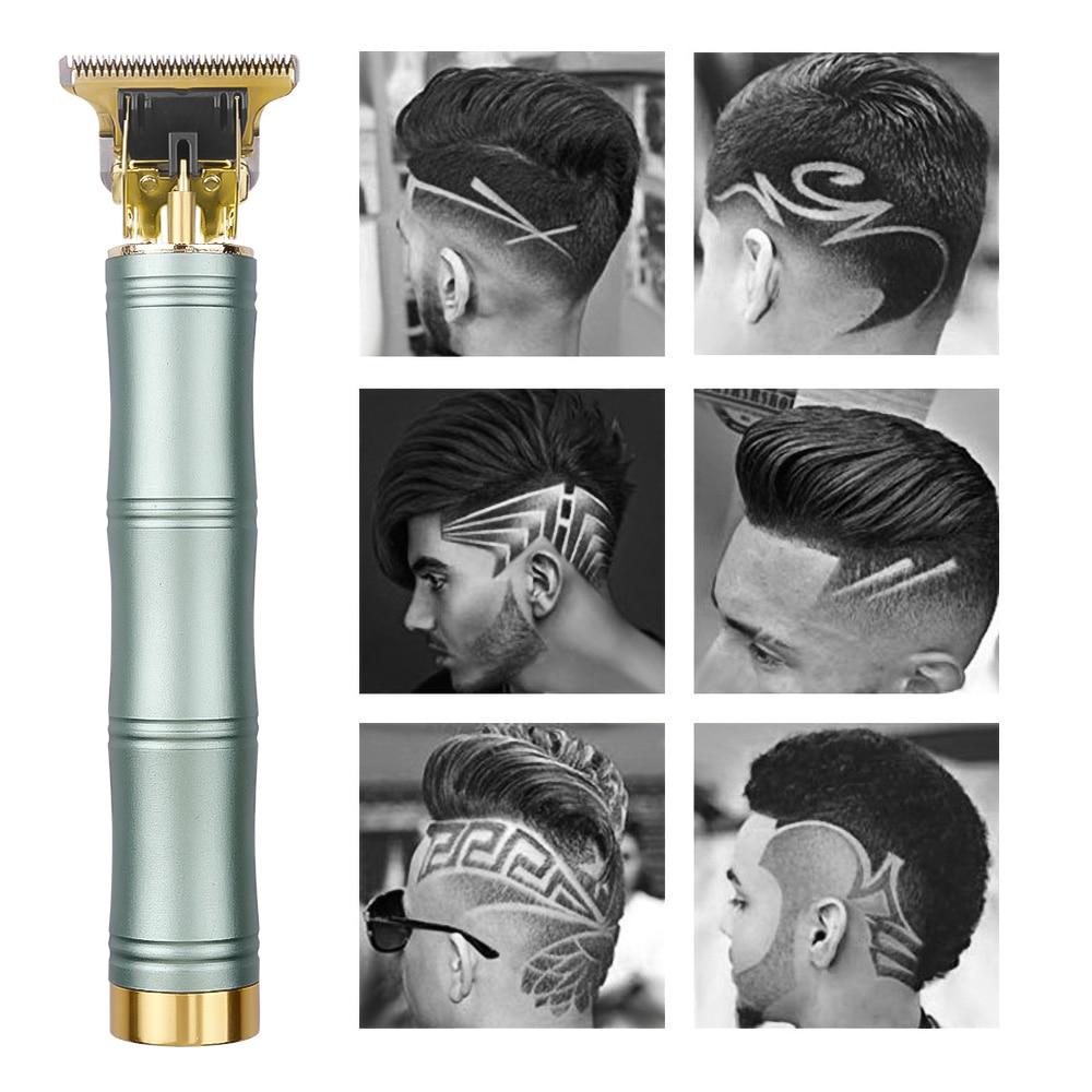 Машинка для стрижки волос T9, электрическая Беспроводная Машинка для стрижки волос с подзарядкой от USB, 0 мм