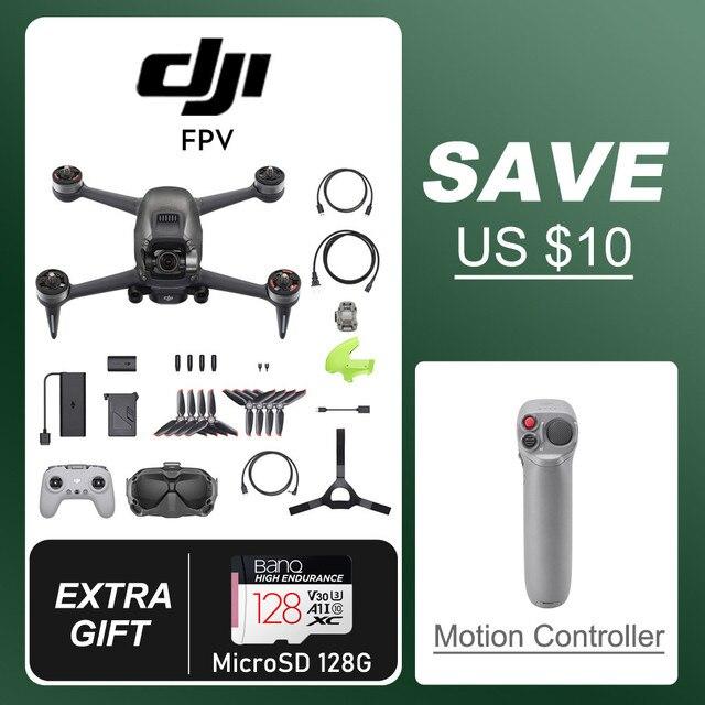 DJI FPV Drone + 3 batteries + Remote control + Motion Controller