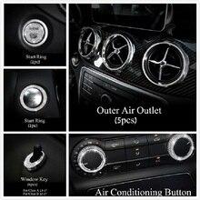 Car Styling Sticker Protective Film Crystal Imitation Diamond Interior For Mercedes Benz A B Class GLA200 CLA220 CLA260 CLA200