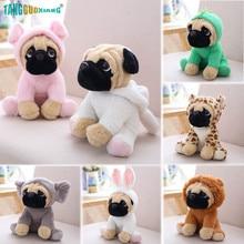 20cm Pug Dog Cute Animal Dogs Cos Cosplay Dinosaur Rabbit Elephant lion Sheep leopar Stuffed Dolls Kids Birthday X-mas Gifts