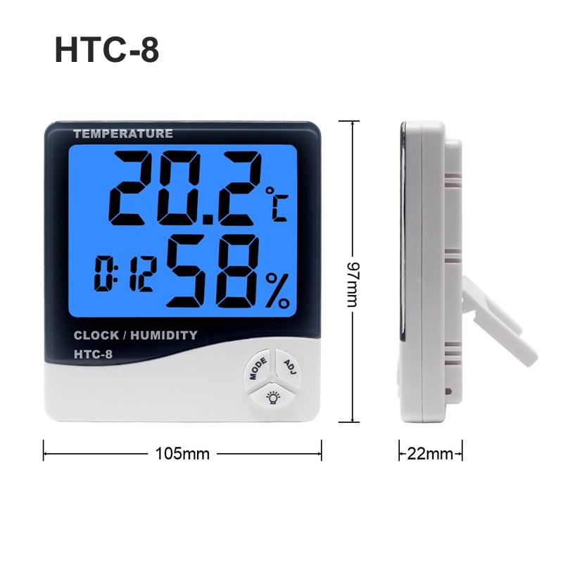 Meteorologinė stotis HTC-1 / HTC-8 Vidinis skaitmeninis termometras - Matavimo prietaisai - Nuotrauka 5
