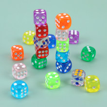 10PCS Colors Dice High Quality Acrylic 6 Sided Round Corner Digital Dice For KTV Bar Club Party Family Games