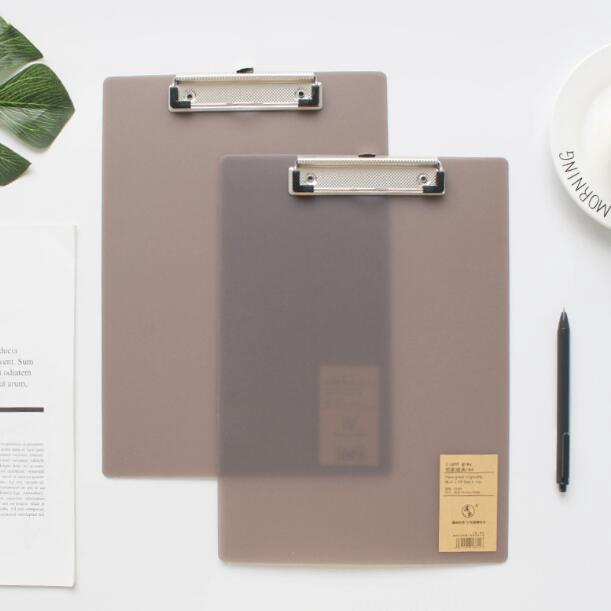 A4 A5 A6 Paper Clip File PP Writing Board Metal Clip Document Ticket Bill Menu Clipboard Grey Student Stationery Office Supply